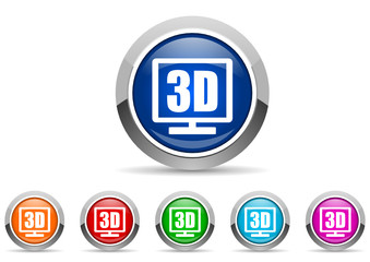 3d display icon set