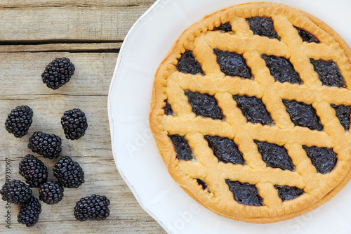 Crostata di more - Italian blackberry tart pie
