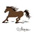 Illustration of racing horse