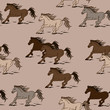 Seamless pattern of horses