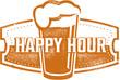 Happy Hour Beer Bar Stamp
