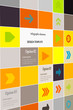 Inforgaphic arrows icon set vector abstract background