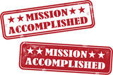 Mission Accomplished Rubber Stamps poster