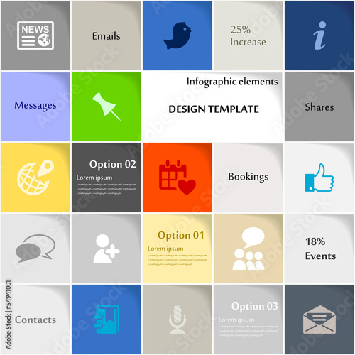 Social media icon set vector abstract background
