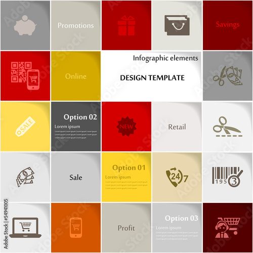 Shopping icon set vector abstract background
