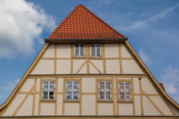 Fachwerkfassade in Quedlinburg