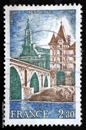 French postage stamp - 1980 MONTAUBAN Ingres 1780-1980