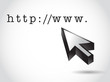 http internet domain and cursor illustration