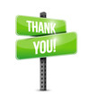 thank you road sign illustration design