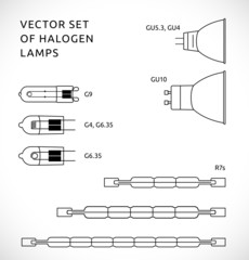 Vector set of halogen lapms 2