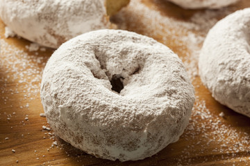 White Homemade Powdered Donuts