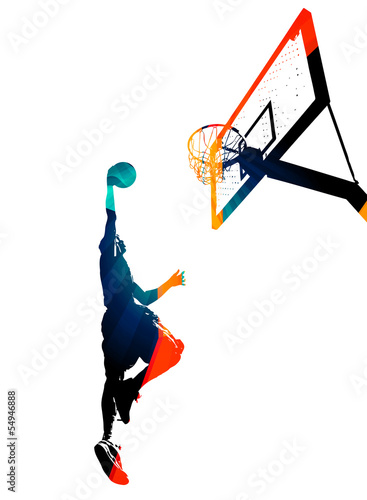 Funky Basketball Slam Dunk