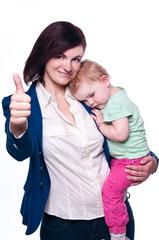 allein erziehende Frau mit Kind II
