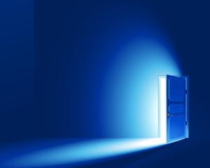 Light in a room through the open door; CMYK; Eps8; No Mesh