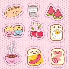 Breakfast - picnic kawaii - café da manhã