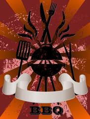 bbq - grunge vector background