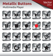 Metallic Buttons - Multimedia