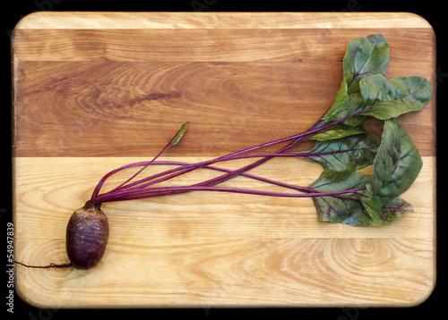 Red Beets on Cutting Board