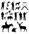 Hunting vector set - 54948609