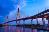 The Bhumibol Bridge in Bangkok,Thailand