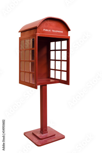 Right Red Antique phone booth