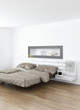 Design Bedroom Interior with modern king-size bed