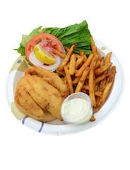 fried fish sandwich on white