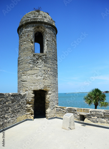 Sentry lookout tower at Castillo de San Marcos fort
