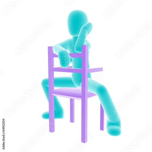blue person sitting C