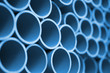 close up of PVC pipes