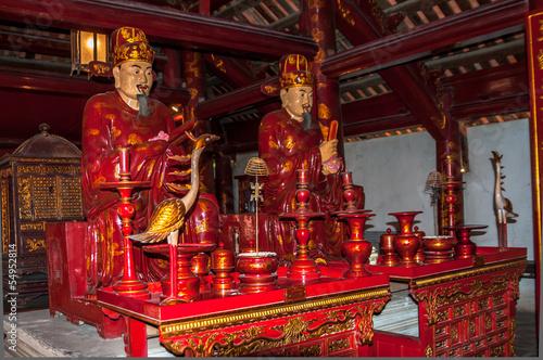 Papiers peints Statue Confucius Statue in Complex Temple of Literature