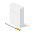 White Pack of cigarettes