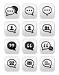 Speech bubble, blog, contact vector buttons set