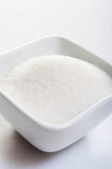 sugar on white background