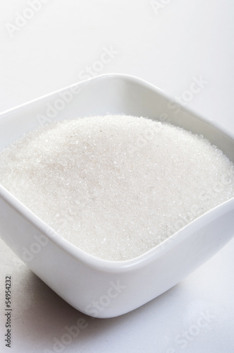 sugar on white background