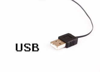 USB cable isolated on white