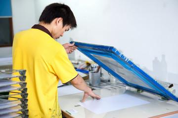 silk-screen printing on plastic