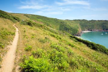 South West West Coast Path Lantic Bay Cornwall England