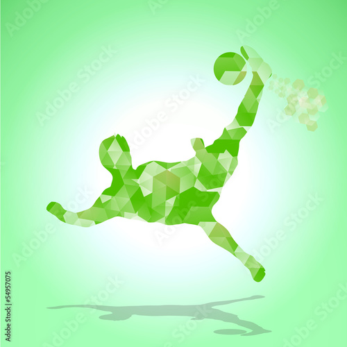 soccer abstract green