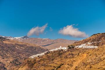Small mountain village on edge of Sierra Nevada, Andalucia.