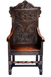 Dark oak armchair throne