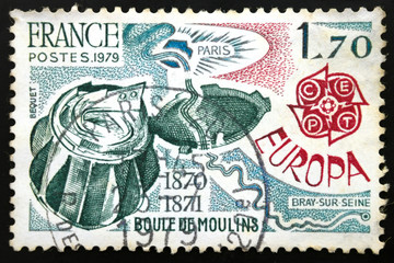 French postage stamp, 1979 EUROPA CEPT BOULE DE MOULINS 1870-187