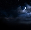 beautiful night sky in the open sea