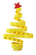 Christmas tree made from measuring tape