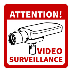warning: attention! video surveillance