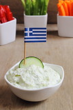 Tzatziki dip sauce with crudités