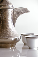 A dallah is a metal pot designed for making Arabic coffee