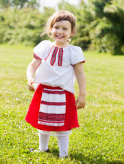 girl in russian folk clothes