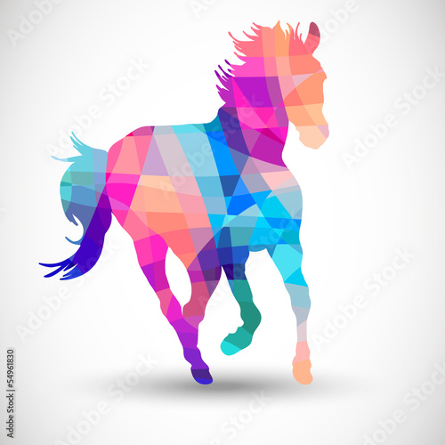 Abstract horse of geometric shapes