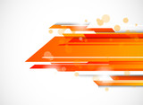 Fototapety Abstract tech background in orange color